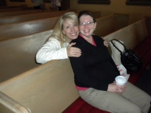 Heidi and I at Bible study - my first week back after being on bed rest for 4 months!