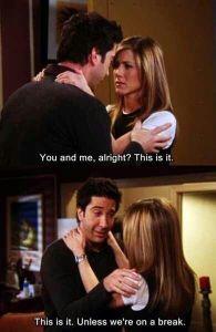 Ross and Rachel Break
