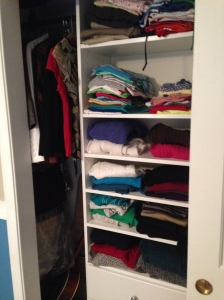 An entire closet full of clothes I gave away.